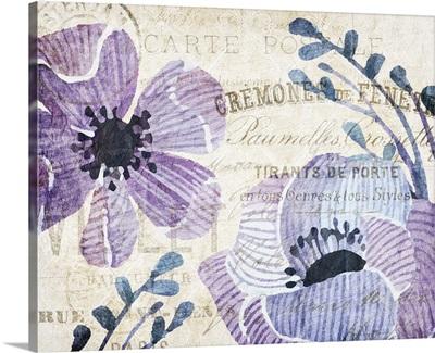Soft Floral Purple III