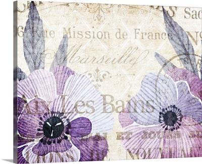 Soft Floral Purple VI