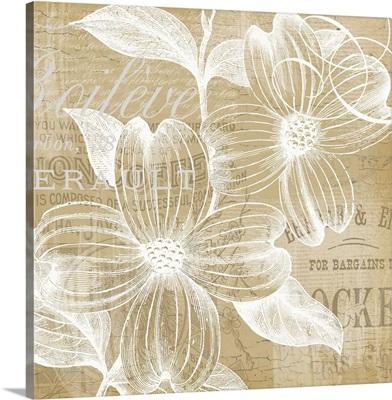 Tan Floral