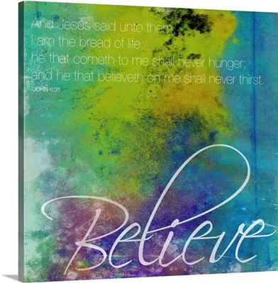 Watercolor Believe