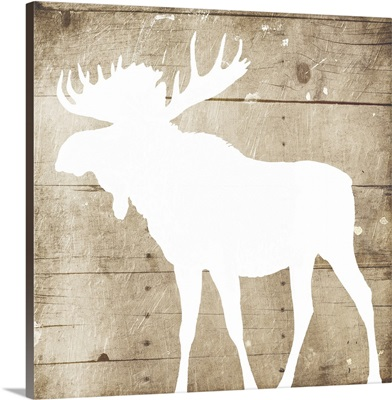 White On Wood Moose Mate