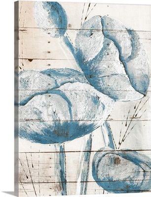 White Wood Blue Florals II