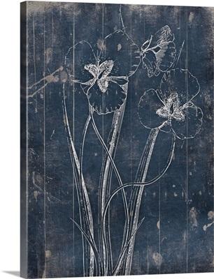 Wood Floral Blues II