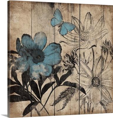 Wood Floral Cut I