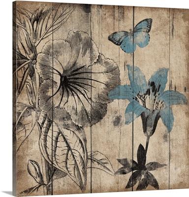 Wood Floral Cut II