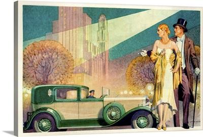 1920's USA Franklin Magazine Advert (detail)