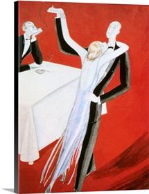 1920's USA Vanity Fair Magazine Cover (detail)