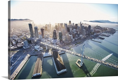 Aerial View of San Francisco and the Bay Bridge