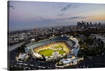 Dodger Stadium and Downtown Los Angeles