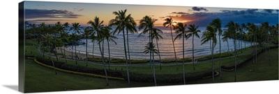 Kapalua Bay Sunset Panoramic, Maui, Hawaii