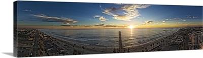Oceanside Coastline Sunset Panoramic