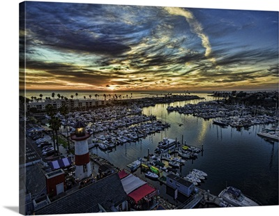 Sunset at the Oceanside Harbor