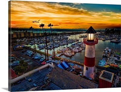 The little lighthouse in Oceanside at sunset