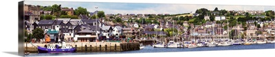 A busy harbour and waterfront, Kinsale, County Cork, Ireland