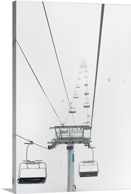A Chairlift At A Ski Resort, Whistler, British Columbia, Canada