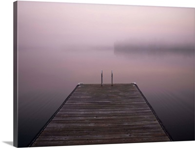 A Dock On The Water, Lake Of The Woods, Ontario, Canada