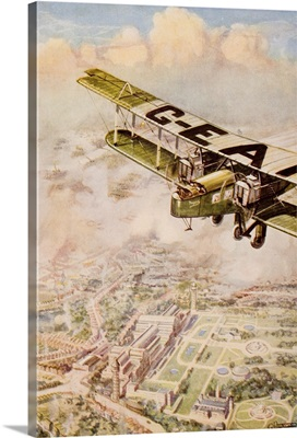A Handley Page Machine Of The London-Paris Air Service Passing The Crystal Palace