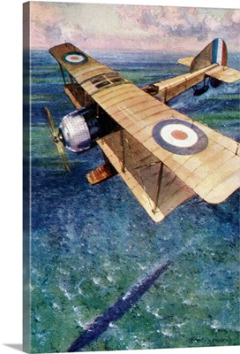 A Seaplane Of The England's Royal Naval Air Service, WWI