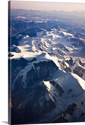 Aerial view of Mount Torbert the Tordrillo Mountains and the Alaska Range
