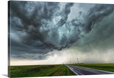 Amazing Clouds Over The Landscape Of The American Mid-West, Nebraska, USA