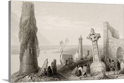 Ancient Cross, Clonmacnoise, Ireland