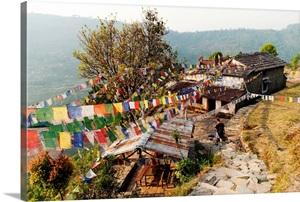 Annapurnas route in Nepal through Gandruk village, Pokhara, Nepal