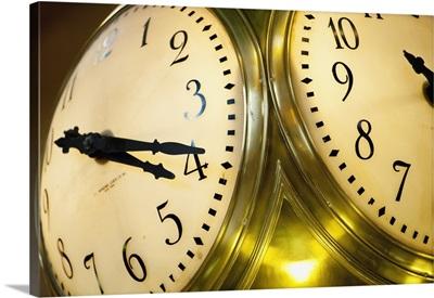 Antique Clock Inside Grand Central Termina; Murray Hill, Manhattan, New York, USA