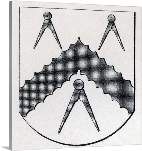 Arms Of Masons Carpenters London Stow 1633