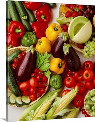 Arrangement of fruits and vegetables