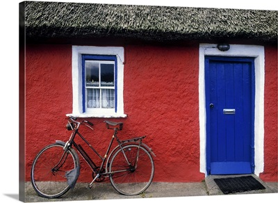 Askeaton, Co Limerick, Ireland, Bicycle In Front Of A House
