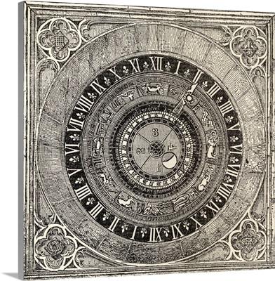 Astronomical Clock In Hampton Court Palace. 1885