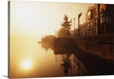 Athlone, County Westmeath, Ireland; Dock At Dawn