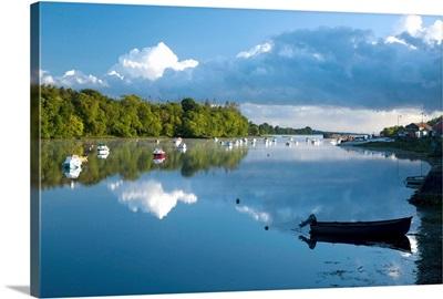 Ballina, Co Mayo, Ireland; Morning Reflections On The River Moy