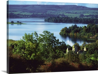 Ballindoon Abbey, Lough Arrow, County Sligo, Ireland; Lakefront Historic Abbey