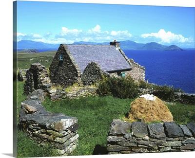 Ballinskelligs, Iveragh Peninsula, County Kerry, Ireland; Historic Stone Farmstead