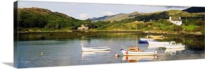 Ballycrovane, County Cork, Ireland, Boats In Harbour