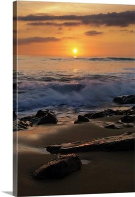 Beach At Dusk; Costa De La Luz, Cadiz, Andalusia, Spain
