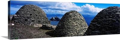 Beehive Huts At The Coast, Skellig Michael, Skellig Islands, Republic Of Ireland