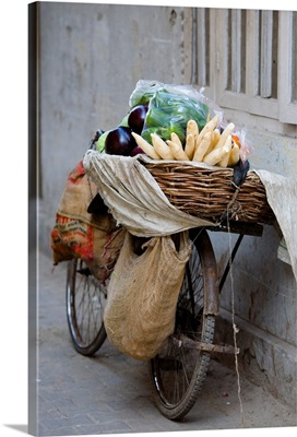 Bicycle Loaded With Food, Delhi, India