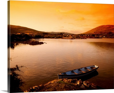 Boat At Maam Cross, County Galway, Ireland