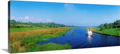 Boat In The River, Shannon-Erne Waterway, Keshcarrigan, Republic Of Ireland
