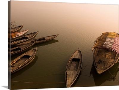 Boats In The Water, Varanasi, India