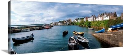 Boats Near The Shore, Roundstone, Connemara, County Galway, Ireland