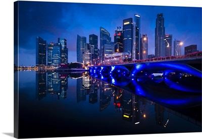 Bridge And Financial District, Central Region, Singapore
