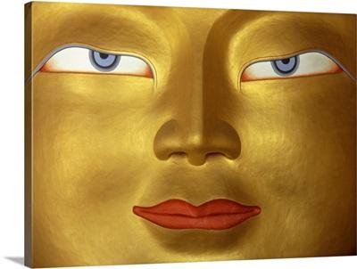 Buddha In Monastery, Close Up; Ladakh, India