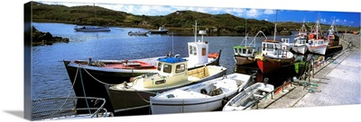 Bunbeg Harbour, County Donegal, Ireland, Harbour With Boats