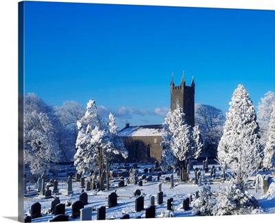 Bushmills Church And Cemetery In Winter, County Antrim, Ireland