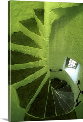 Cahir Castle, County Tipperary, Ireland; Winding Stairwell In Castle