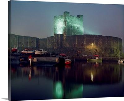 Carrickfergus Castle And Harbour, County Antrim, Ireland