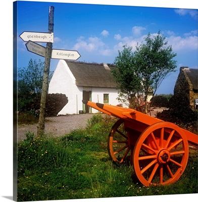 Cart On The Roadside Of A Village, The Bog Village, Glenbeigh, Republic Of Ireland